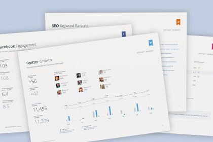 Outsmart's automated social media analytics reports